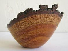 Ukhuni Craft Signed Handmade Vtg Mid Century Modern Turned Silky Oak Wood Bowl I like