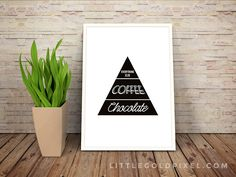 Free PrintablesKitchen Wall Art • Chocolate and Coffee Faux Food Pyramid…