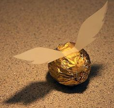 Snitch made from ferrero rocher chocolates