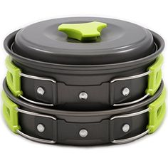 Camping Cookware Mess Kit Backpacking Gear & Hiking Outdoors Cooking Equipment 10 Piece Cookset | Lightweight, Compact, & Durable Pot Pan Bowls Picnic Cook Set - Free Folding Spork, Nylon Bag, & Ebook MalloMe http://www.amazon.com/dp/B01743BX1A/ref=cm_sw_r_pi_dp_85.Rwb0JN0M52