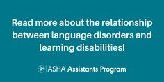 Ever wonder about the relationship between #languagedisorders and learning disabilities? Delve deeper in this week's #FridayReads! Speech Language Therapy, Speech And Language, Decoding, Learning Disabilities, Sight Words, Reading Comprehension, Disability, Disorders, Communication