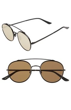 Free shipping and returns on SUNDAY SOMEWHERE 'Parker' 52mm Sunglasses at Nordstrom.com. A textured brow bar adds a suave retro flourish to statement-making sunglasses in a streamlined silhouette.