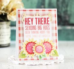 Hey There Card by Laurie Schmidlin for Papertrey Ink (August 2017)