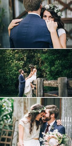 Relaxed bride and groom photos for rustic boho wedding | Raconteur Photography