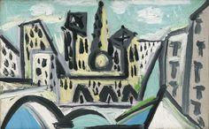 Pablo Picasso (Spanish, 1881-1973), Vue de Notre-Dame de Paris, 13 April 1945