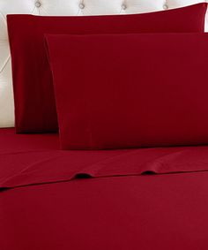 Another great find on #zulily! Solid Burgundy Egyptian Cotton Sheet Set #zulilyfinds