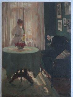 Ein Original Ölgemälde von einem Bekannten Künstler DAVID ZACHARIAS geboren 1871 in Königsberg, verstorben 1915 in Warschau, ab 1899 war er tätig an der Kunstakademie in Düsseldorf. Das Bild ist Öl auf Leinwand gemalt unten rechts ist es signiert D.ZACHARIAS   Df.(Düsseldorf)  Bildgröße: ca. 65 cm x 47 cm