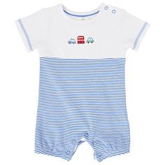 Buy John Lewis Baby's Car Print Shortie Sleepsuit, Blue Online at johnlewis.com