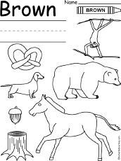 Learning Colors Worksheets for Preschoolers Color Green