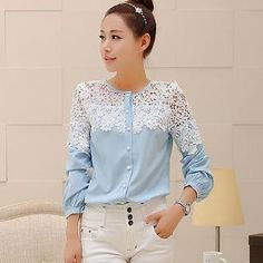 Buy 'Sunny House – Lace-Panel Blouse' with Free International Shipping at YesStyle.com. Browse and shop for thousands of Asian fashion items from China and more!