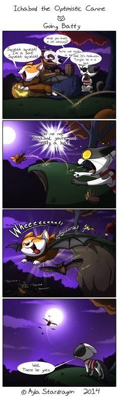 Ichabod the Optimistic Canine :: Going Batty   Tapastic Comics - image 1