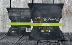 Package design - Raw snacks www.rawsnacks.dk www.lueneborg.com