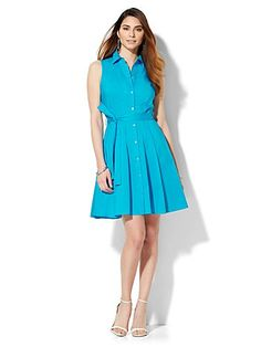 Shop Flare Shirtdress. Find your perfect size online at the best price at New York & Company.