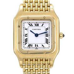 CARTIER Swiss Mechanical 18K Gold Ladies Watch $ 9238.00