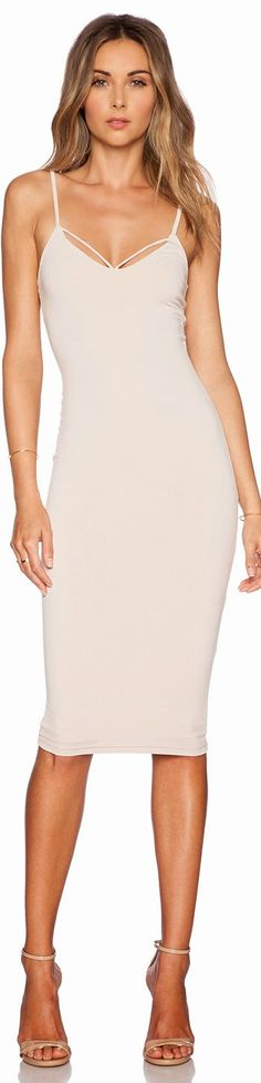 MI AMORE BACKLESS SHIFT DRESS NOOKIE