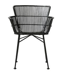 Black rattan chair with armrests dining room design House Doctor Coon Kids Room Design, Dining Room Design, Dining Room Chairs, House Doctor, Black Rattan Chair, Outdoor Chairs, Outdoor Furniture, Scandinavian Interior, Black House