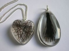 resin horse hair jewelry | ... Jewellery - Resin pendants with embedded horse hair | Craft Juice