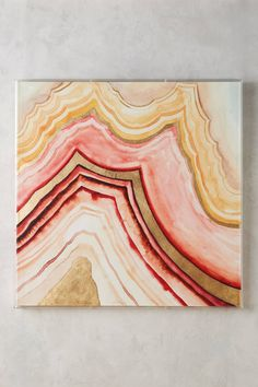 Guseul Park Golden Agate Wall Art