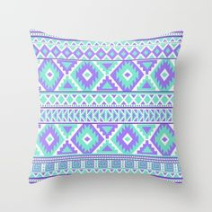 Throw pillows. Tribal Art Creation Purple and Mint by Tjc555 Follow My Pinterest: @vickileandro