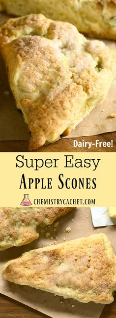 Super Easy Apple Scone Recipe that is totally dairy-free! Also gluten-free…