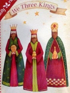 Amazon.com: 16 Colorlful We Three Kings Christmas Cards 3 wise men: Health & Personal Care