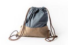 Washable paper AGED sack with jeans Paper Sack, Sacks, Drawstring Backpack, Backpacks, Canvas, Jeans, Tela, Backpack, Canvases