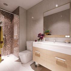 Modern lakás természetes, világos fa felületekkel, nyitott konyhával és gyerekszobával