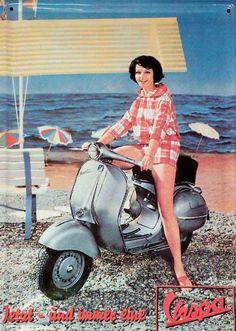 FOR YOU KAREN <3  Vespa 1960's ad.