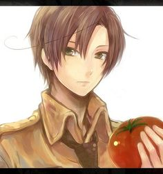 Photo of Tomato Lover for fans of Hetalia Romano. No Romano without a tomato, right? ^w^