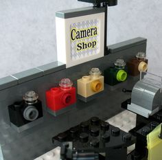 Custom Lego Camera Shop Store Cash Register Mini Miniature for Minifigs Tripod | eBay
