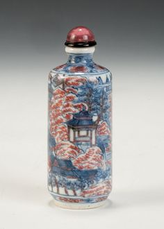 A Finely Painted 19thC Chinese Porcelain Snuff Bottle
