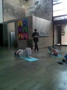 Antoinette Kass conducting a Feldenkrais session with Paul Zaman and Matthias Gelber