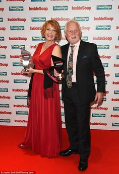 Back from the dead: Charlie Hardwick and Chris Chittell (Val and Eric Pollard) claimed the. Dream Bingo, Inside Soap, Soap Awards, Partying Hard, Latex Dress, Fashion Inspiration, Sexy Women, Female, Celebrities