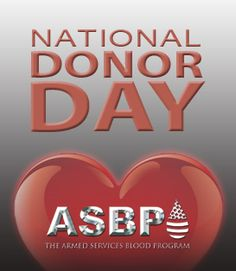 Feb. 14 is National Donor Day, which raises awareness and encourages Americans to make life-saving donations, such as blood and platelets. Join us in celebrating National Donor Day along with Valentine's Day this year.