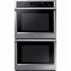 """Samsung - 30"""" Double Wall Oven - Stainless Steel - Front Zoom"""