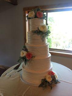 A tall #weddingcake we did! #AustinWeddings