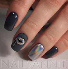 Gel Nail Designs You Should Try Out – Your Beautiful Nails Stylish Nails, Trendy Nails, Hot Nails, Hair And Nails, Crome Nails, Nailart, Nail Lacquer, Nails Tumblr, Super Nails