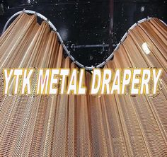 Fashion Metal Coil Drapery/mini Chain-link Curtain - Buy Fashion Metal Coil Drapery,Hot Metallic Curtain,Metal Mesh Divider Product on Alibaba.com