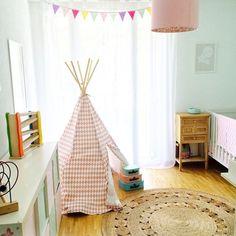 A very cute little nursery featuring our Dandelion Weave rug. Regram via @mylovelymonsters_shop. #armadilloandco #dandelionweave #natural #lielightly