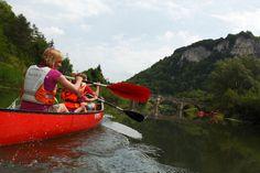 Kanufahren auf der Donau, Baden-Württemberg, Deutschland