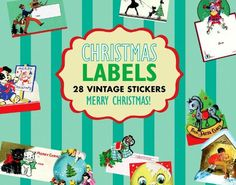 Christmas Gift Labels Sticker Box (Holiday Stickers). All these stickers are intended to put on Christmas gifts. Most are? to and from? labels, with generous room to write the giver and recipient s name. We have filled in the collection with? Do not open until Christmas From Santa,? and a few purely decorative labels. They are all reproduced from our vintage original label collection, and will lend beauty and charm to your holiday gift-wrapping.. Price: $9.95
