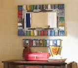 Pottery Barn Kids Multi-Colored Rustic Mirror  (Using this as inspiration! )