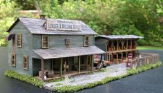 Lumber Yard Model Train Buildings HO 1:87 scale