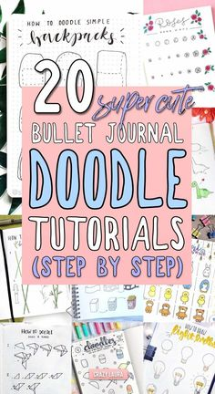Step By Step Bullet Journal Doodle Tutorials - Crazy L.-Step By Step Bullet Journal Doodle Tutorials – Crazy Laura - Doodle Bullet Journal, Bullet Journal Inspiration, Journal Ideas, Bullet Journal With Stickers, List Of Bullet Journal Pages, Bible Bullet Journaling, Bullet Journal Tools, Bullet Journal Savings, Bullet Journal Layout Templates