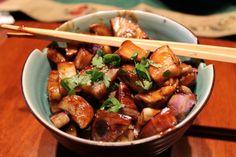 Stir-fry Szechwan eggplant