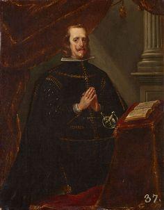 Felipe IV, orante Círculo de Diego Velázquez, hacia 1658-1660 Óleo sobre lienzo, 53,5 x 41,5 cm Patrimonio Nacional, Monasterio de San Lorenzo de El Escorial