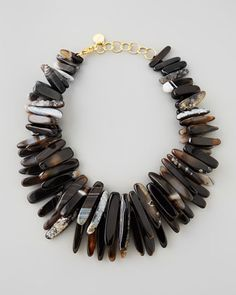 Black Agate Spike Necklace by Nest at Neiman Marcus.