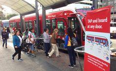All-door boarding speeds up buses.