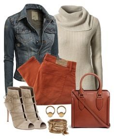 """""""Untitled #1174"""" by gallant81 ❤ liked on Polyvore featuring Jacqueline De Yong, Denim & Supply by Ralph Lauren, Gianvito Rossi, Alexander McQueen, ALDO and 14th & Union"""