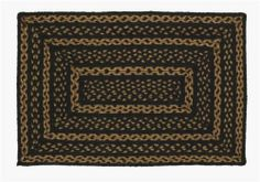 "Farmhouse Star Braided Jute Rug, Rectangular - 20x30"" by Victorian Heart. $19.95. High end quality and workmanship!. All cloth items in our collections are 100% preshrunk cotton. All braided items (like rugs, baskets, etc.) are 100% jute. Product measurements and additional details listed in title and/or Product Description below.. Extensive line of matching items and accessories available! (Search by Collection name). Black. Tan, and Creme Colors. This braided ju..."